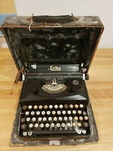Naumann ERIKA Modell M - 1940 portable typewriter Schreibmaschine vintage