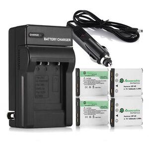 NP-45 NP-45A Li-on Battery + Charger For Fujifilm FinePix XP10 XP60 J100 J20 J10