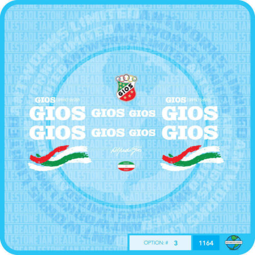 Set 3 Gios Compact System Bicycle Decals Transfers Stickers