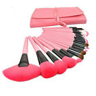 24 PCS Cosmetic Brushes Makeup Tools Brush Set Make up Kit + Pink Pouch Bag Case