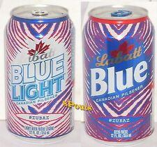 ZUBAZ BUFFALO BILLS BLUE-RED FAN-CANS NY FOOTBALL SPORT LABATT BEER+LIGHT CANADA