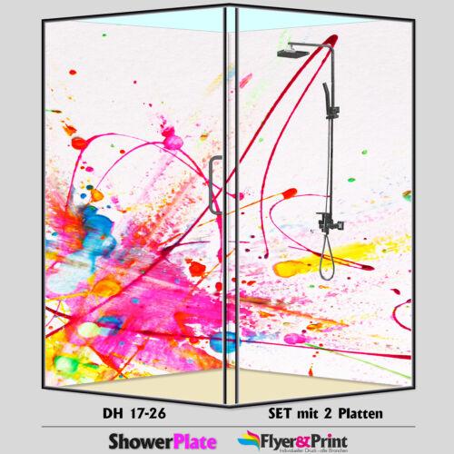 Duschrückwand Duschrückwände Rückwand Alu Fliesenspiegel Wandverkleidung DH17-26