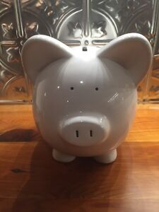 Large-9-034-Long-White-Ceramic-Piggy-Bank-NEW-Ready-For-You-Personalize