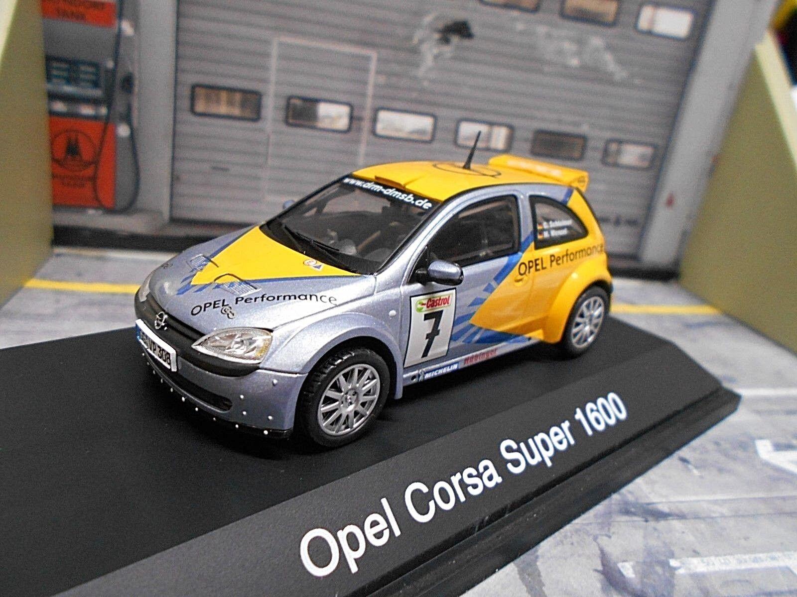 OPEL Corsa Super 1600 s1600 RALLY DRM #7 scroccone Schuco 1:43