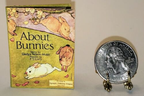 1:6 SCALE MINIATURE BOOK ABOUT BUNNIES PLAYSCALE BARBIE