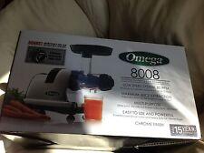 NEW Omega Chrome-Heavy Duty Masticating Juicer 8008