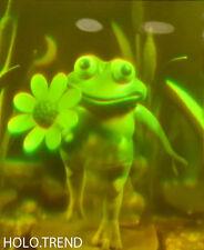 Hologrammbild, 3D, Hologramm, Holographie, Frosch, Comic, Natur, Garten