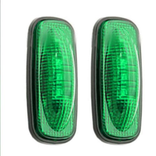 LED Smoke Side Fender Dually Bed Marker Light Red Amber For 2003-2009 RXV