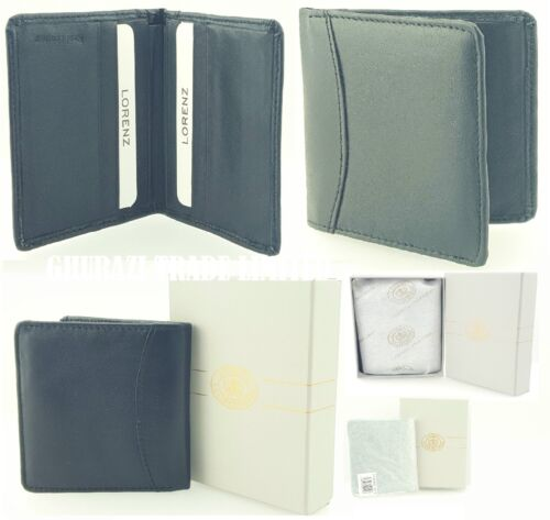 Gift Box New Sale Credit Card Holder Wallet Purse Lorenz Soft Real Leather