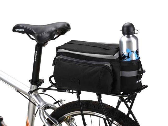 9b56cbf4313 Roswheel Compact 7ltr Rear Bike Rack Bag Small Cycle Basket Pannier UK  14024 No