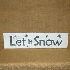 Let-It-Snow-Handmade-Wood-Sign-Rustic-Primitive-Plaque