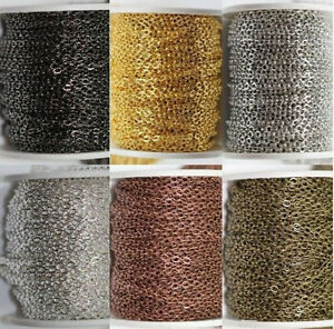 Wholesale-5-10-100M-Cable-Open-Link-Iron-Metal-Chain-Jewelry-Making-Craft-3x2MM