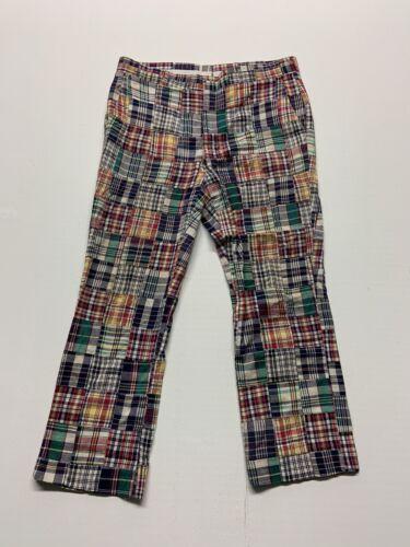 "Vintage 38"" LL Bean Patchwork Madras Pants VINTAGE"