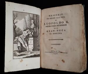 Rastrelli-Modesto-Memorie-per-servire-alla-vita-di-Leopoldo-II-Italia-1792