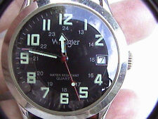 wrangler mens wrist watch 1239 black for parts or repair