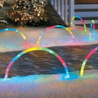 Color Changing Christmas Arch Pathway Markers-set Of 5 Side Walk Decor Unique