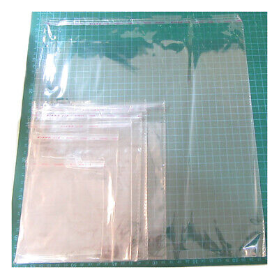 SQUARE Clear Cellophane Bags Peel seal Display Cards Prints Photos Instagram