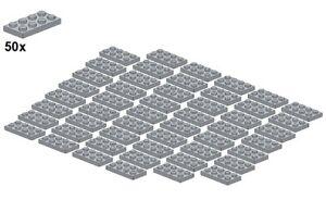 Used-LEGO-Plates-Lightbluishgray-3020-10-2x4-50Stk-Platte-Hellgra