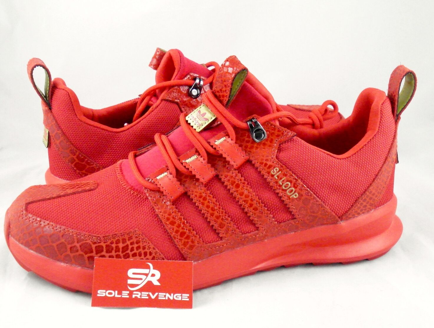 Nouveau Adidas Originals SL LOOP courirNER Reptile Trail crocodile rouge TR S85682