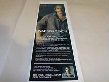 WARREN ZEVON - Petite Publicité de magazine / Advert THE WIND !!!!