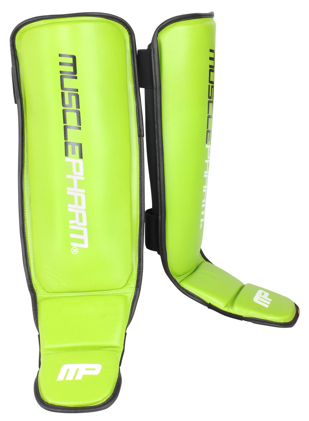 MusclePharm Mens MP Shin Guards -Green -  One Size Fits All  best choice