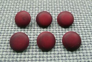 6 Burgundy Plum 20mm Marbled Mottled Vintage Buttons Shanked Sewing Crafts