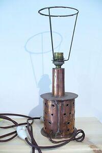 Objectif Ancienne Lampe En Cuivre AnnÉe 60 - Vintage - A Voir ! Facile à Utiliser