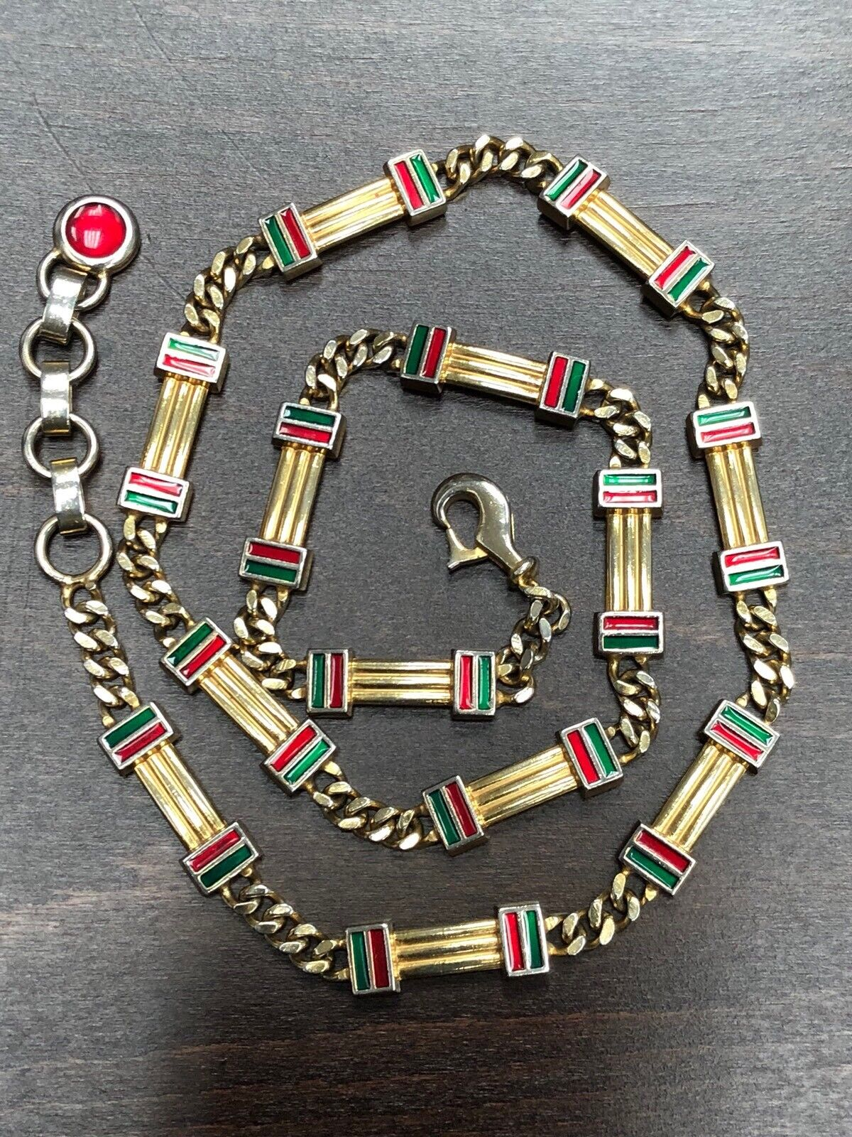 Gucci 1970's Enamel Belt - image 1