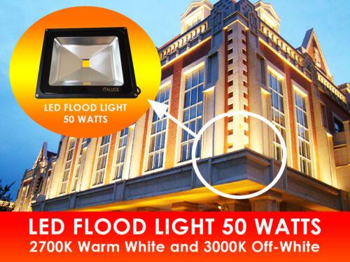 LED Flood Light 50 Watts Black Shell 120V High Voltage Lawn Landscape Boat Store