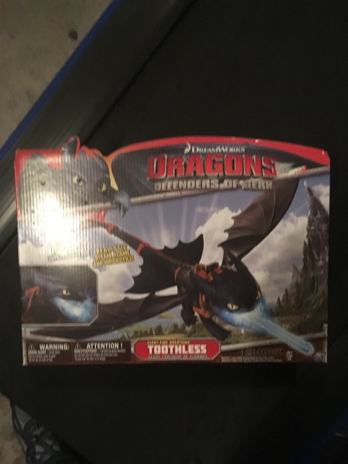 "How To Train Your Dragon-""Giant Fire Breathing Toothless""Spin Masters Set MISB"