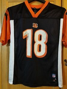 New CINCINNATI BENGALS NFL AUTHENTIC Jersey AJ Green # 18 Youth Large | eBay