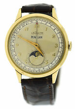 LeCoultre Vintage Triple Date Calendar Moonphase 10K Gold Filled Watch 486