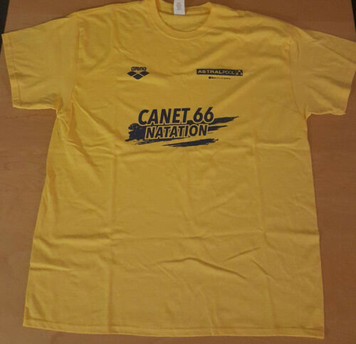 t-shirt du club de natation canet66, canet 66
