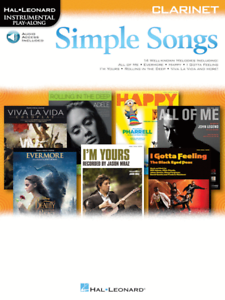 """""""simple Songs"""" Instrumental Play Along Music Book/audio Access For Clarinet-new! Garantie 100%"""