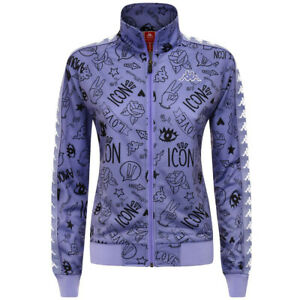 FELPA-KAPPA-DONNA-303UUW0-943-JACKET-WOMAN-VIOLET-BLACK-WHITE-VIOLA-ORIGINALE