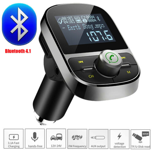 HY92 1.4inch USB Car Dual Kit Charger BT Stereo MP3 Player FM Transmitter