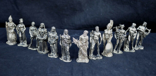 Olympians gods statue set  from Ancient Greek mythology (color silver)