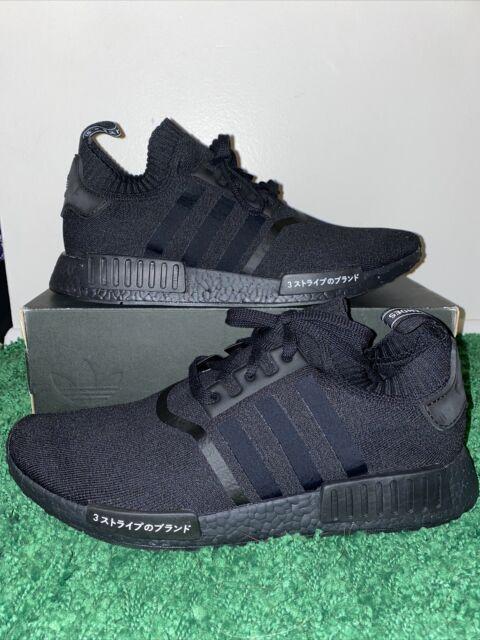 Adidas NMD R1 PK Japan Triple Black Primeknit BZ0220 NEW