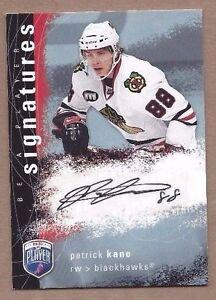 2008-09-BAP-hockey-card-Patrick-Kane-autographed-signed-Chicago-Blackhawks
