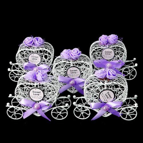 5Pcs CENDRILLON CARRIAGE Candy Chocolat Boîtes Anniversaire Mariage Fête FAVEUR nouveau