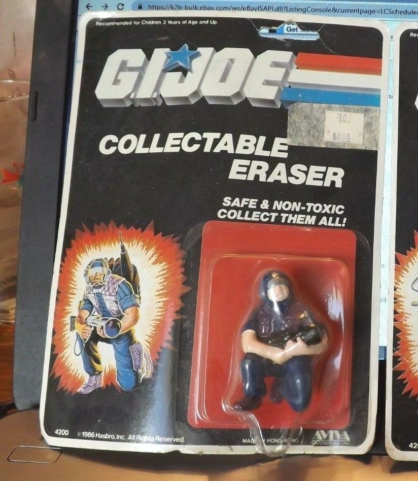 1986 GI Joe Cobra Tele Viper Collectable Eraser MOC Hasbro