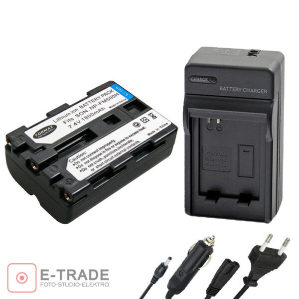 1800 Mah Batterie Np-fm500h Pour Sony Alpha A200 A300 A500 A550 A580 A700 A850 A900