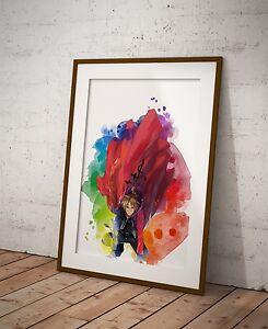 Fullmetal Alchemist Anime Print Wall Decor Watercolor Anime Poster Gift R9