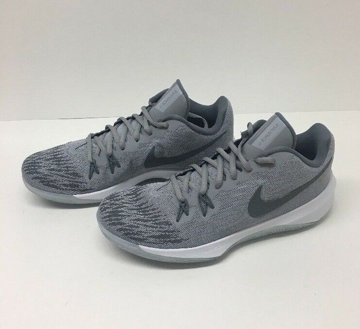 Nike Men's Zoom Evidence II Basketball shoes Size 8, 11 Wolf Grey Cool Grey Wt.