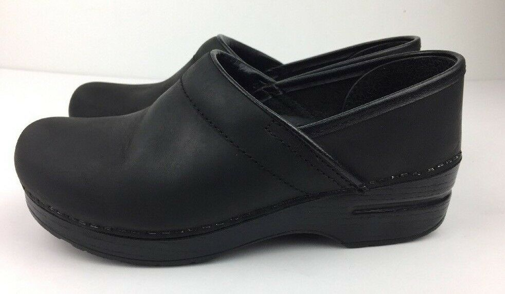 Dansko Professional shoes Women's Clogs Mules Black Leather Sz 6.5-7.0   37 M