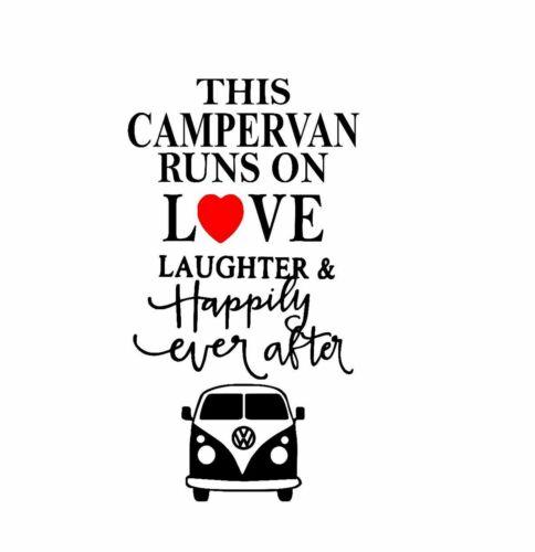CARAVAN CAMPER VAN VINYL DECAL STICKER  FOR WINE BOTTLE AND MORE!