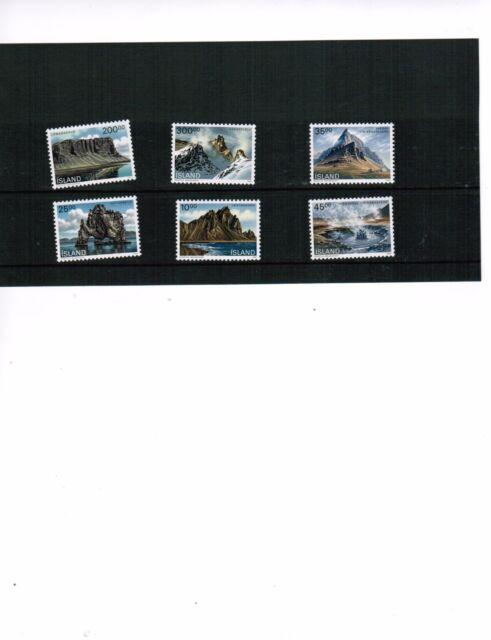 ICELAND 1989-91 ISLENSKI LANDSLAG SET OF 6  MNH cat $22.00 # 678++ LOT ICE