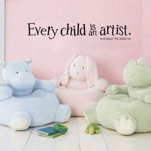 1PC Every Child is an Artist Wall Art Sticker Children ...