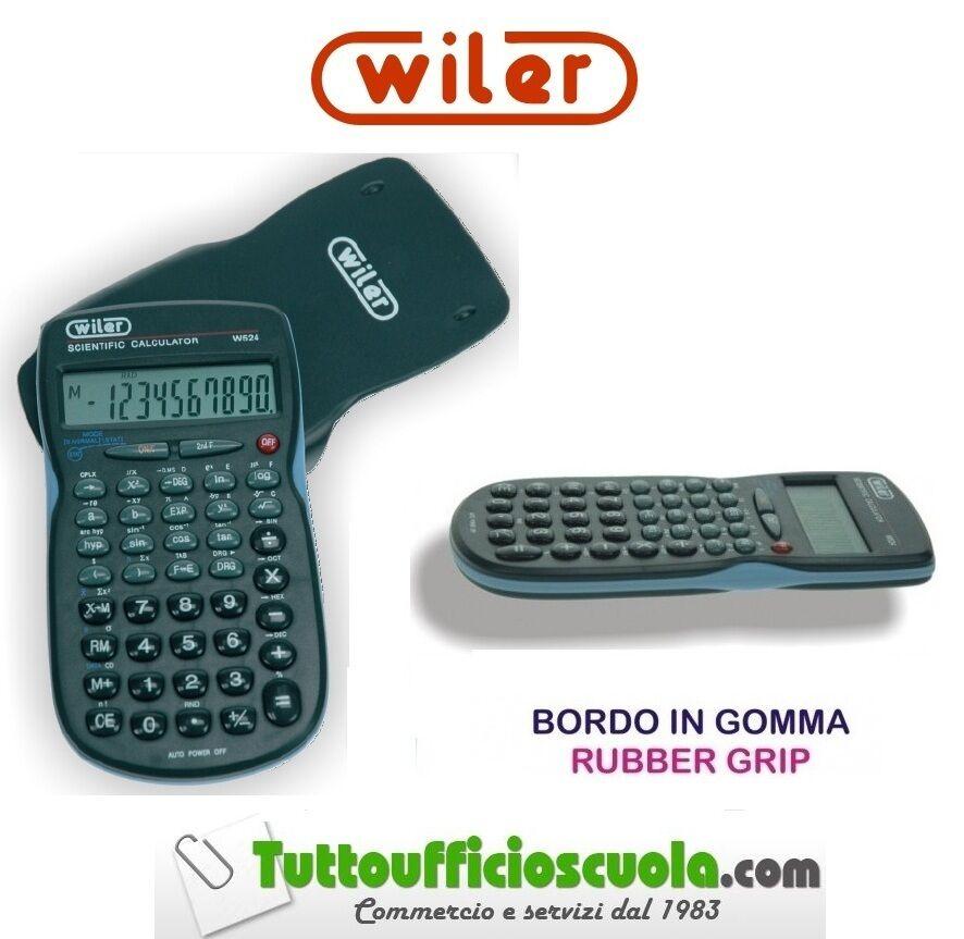 CALCOLATRICE SCENTIFICA WILER- w524 - 10 CIFRE - BORDO GOMMATO -GUSCIO RIGIDO