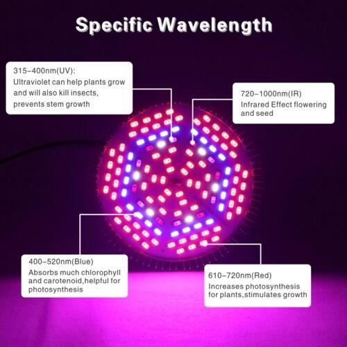 18//30//50//80W E27 Led Grow Light Full Spectrum Lamp Bulb Plant Hydroponics Bloom